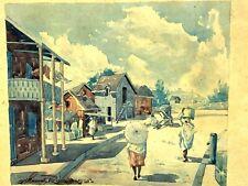 Gilbert RAKOTO & scènes de la Vie Malgache & 1935 & Madagascar & Peinture