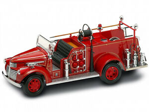 Gmc Firetruck 1941 1:24 Die-Cast Model 20068. Yat Ming. Shipping Included
