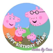 PEPPA PIG ROUND 7 INCH EDIBLE IMAGE CAKE TOPPER BIRTHDAY PARTY KIDS
