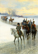 JAN VAN CHELMINSKI Napoléon conduisant son armée wall art CANVAS