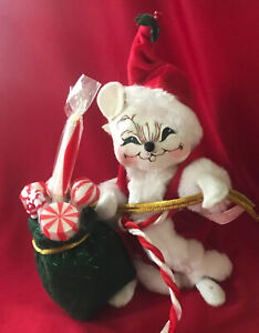 """Annalee Christmas Mouse / 2005 / """"Santa Mouse with Bag full of Goodies"""" //EUC//"""
