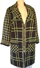 ANDREW GN EMBROIDERED APPLIQUE - FRINGE DETAIL 3/4 SLEEVES COAT SIZE 44
