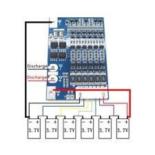 22.2V 6S Li-ion 18650 Lithium Battery BMS Charger Protection Board with Balance