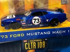 JADA  BIG TIME  MUSCLE  73 FORD MUSTANG MACH 1,  1/64 DIECAST WAVE 9, BLUE