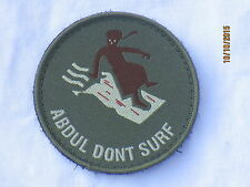 Abdul dont surf, Unit ID morale Patch, velcro/velcro, insignia, Badge
