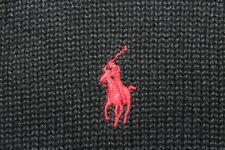 POLO RALPH LAUREN Men's XXL Black Cotton w/ Red Pony 1/4 Zip Sweater