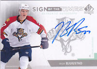 13-14 SP Authentic Nick Bjugstad Auto Sign Of The Times SOTT Autograph Rookie