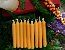 CANDLES ORANGE WISH SPELL ALTAR RITUAL Set of 9 Wicca Pagan Metaphysical Witch