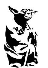 High Detail Star Wars Yoda Aerografo Stencil-Gratis UK Spese Postali