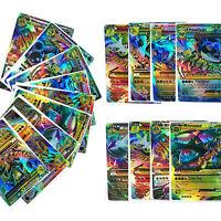 10-100 pièces rare pokemon cartes à paillettes flash EX MAGE GARANTIE lot