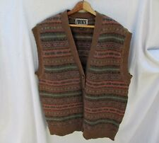 Forenza Wool Sweater Vest Women's L Vintage Nordic