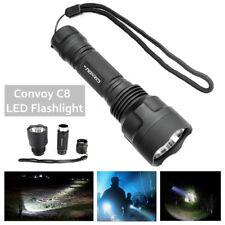 Tactical SMO Convoy C8 DIY LED Handheld Flashlight Aluminum Alloy Shell Host