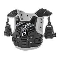 O`Neal PXR Stone Shield Enduro Cross Brust und Rückenschutz grau schwarz Uni Gr.