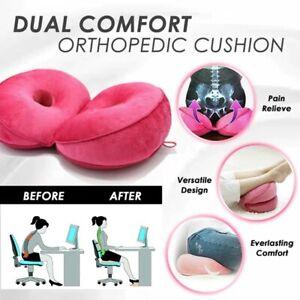 New Dual Comfort Orthopedic Cushion Pelvis Pillow Lift Hips Up Seat Cushion Soft