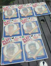 Lot of 7 1989 Tara Play Ball Superstar Collectible Baseball Plaques Raines etc