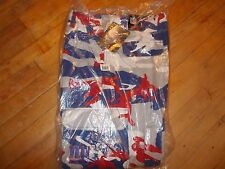 NWTS NFL NEW YORK Giants Team Colors FLEECE LINED Camo Cargo Pants Size 36 X 30