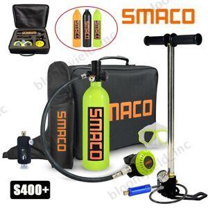 SMACO S400+ Mini Diving Kit + Air Pump Breathing Underwater 1L Scuba Oxygen Tank