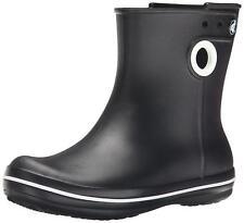 Womens Crocs Jaunt Shorty Womens UK 6 Wellies Slip On Wellington Black Boots