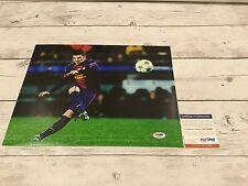 David Villa Signed Barcelona Fc F.C 11x14 Photo Psa Dna Coa Spain Autographed b