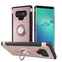 For Samsung Galaxy Note 9 Slim Hybrid Protective Case&Finger Ring Grip Kickstand