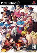 Used PS2 CAPCOM Street Fighter III Third 3rd Strike SONY PLAYSTATION 2 JAPAN