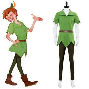 Peter Pan Outfit Men Cosplay Costume Green Halloween Uniform Suit Gift