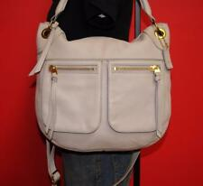 EUC FOSSIL 'KARLI' Satchel Pale Gray Pebbled Leather Tote Convertible Bag Purse