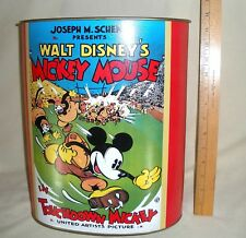 New listing 1997 Disney Touchdown Mickey Mouse Popcorn Tin Can