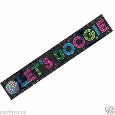 70's 80's DISCO FEVER LETS BOOGIE PARTY FOIL LONG  BANNER WALL DECORATION KIT