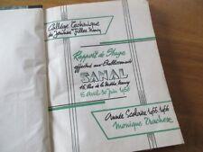 LORRAINE - MAGASIN  SANAL RAPPORT STAGE 1956 PAPIER MONIQUE TRACHEZ SUPERETTE