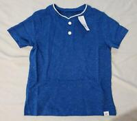 Gap Boy's Short Sleeve Straight Hem Henley T-Shirt SH3 Blue Size 3 NWT