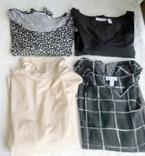Susan Graver QVC Shirts Clothes Lot of 4 Womens Size 2X Turtleneck Ruched V Neck