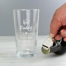 Personalised No.1 Pint Glass & Bottle Opener Set - Birthday Gift for Him DAD SON
