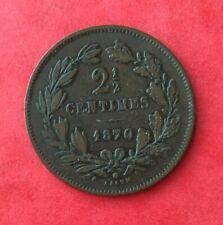 Luxembourg - Très Jolie monnaie de  2 1/2 Centimes 1870 avec point