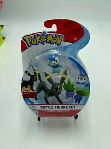 Pokemon Battle Figure Set Umbreon Oddish Piplup 3 piece Set Action Figure