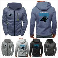 Carolina Panthers American football Hoodie Men Zipper Sweatshirt Jacket Coat Top