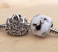 Disney Marry Poppins Flying Umbrella Flower Handbag Purse European Beads Charms