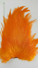 """LG  SELECT 10"""" to 12"""" SADDLES ( ORANGE ) FEATHERS .Streamers,wet,musky,"""