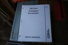 Gehl Ge1202 Mini Excavator Trackhoe Crawler Parts Manual Book Catalog List Spare