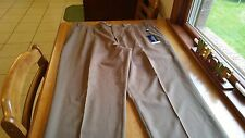 Chaps Suit Separates 100% Wool Pleated Mens Dress Pants Taupe 44/30 NWT! FREE SH