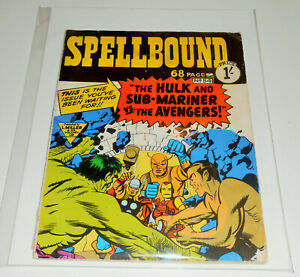 SPELLBOUND no.54 L Miller 1964 AVENGERS no.3 Hulk Sub-Mariner RARE UK EDITION