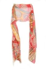 Retro 60's Theme Funky Colorful Red /orange Pattern Colorful Scarf Abstract(S4)