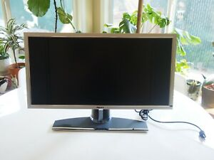"""DELL 19"""" W1900 LCD TV MONITOR W/ REMOTE, STAND, SPEAKERS + POWER CORD"""