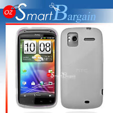 White Soft Gel TPU Cover Case For HTC Sensation G14 + Screen Protector