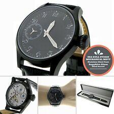 44mm Black Dial Luminous 6497 Hand winding ST3600 Sapphire Glass Steel Watch W42