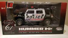 1:18 Highway 61 2005 Hummer H2 SUV Police New
