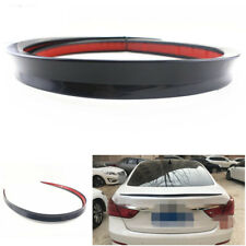 Black Soft Car SUVs Rear Roof Trunk Spoiler Rear Wing Lip Trim Sticker Kit 1.2M