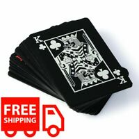 Black Deck Of Cards Magic Show Waterproof Plastic Playing Poker Cards Toy Gift