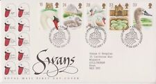 GB ROYAL MAIL FDC FIRST DAY COVER 1993 SWANS STAMP SET ABBOTSBURY PMK