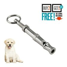 High Frequency Dog Whistle Adjustable Sound Key Chain Puppy Training Collie UK